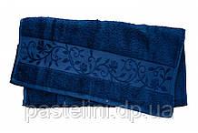 Рушник махра-бамбук 50x90 bamboo темно-синій