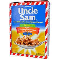 U.S Mills, Хлопья Uncle Sam, хлопья из цельной пшеницы с ягодами и льняным семенем, оригинальные, 10 унций (284 г)
