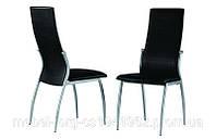 Стулья кухонные металлические C3103-1, оббивка стула черная экокожа