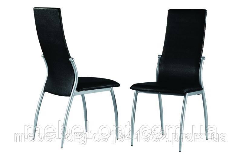 Стулья кухонные металлические C3103-1, оббивка стула черная экокожа - Мебель опт в Киеве
