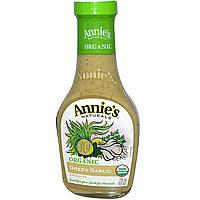AnniesСвекольный сок, Органическая, зеленая чесночная поливка-соус, 8 жидк. унц. (236 мл)