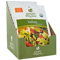 Simply Organic, Итальянские приправы, 12 пакетиков по 0,70 унции (20 г) каждый