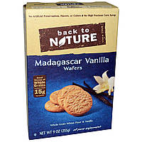 Back to Nature, Вафли с мадагаскарской ванилью, 9 унций (255 г)