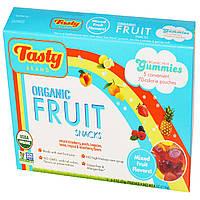 Tasty Brand, Органические фруктовые закуски Gummies, Мультифруктовый вкус, 5 пакетиков, 0.8 унций (23 г) каждый
