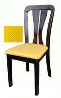 Стул обеденный деревянный с мягким сиденьем, цвет шоколад, WX09-3. Цвет оббивки-светлокофейный.