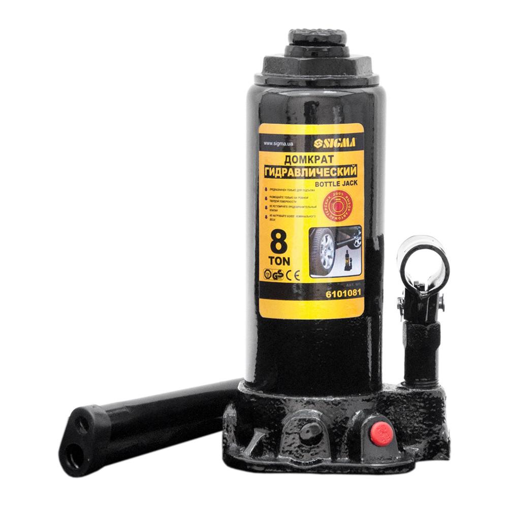 Домкрат гидравлический бутылочный 8т H 230-457мм sigma 6101081
