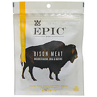 Epic Bar, Bison Meat, Uncured Bacon, Chia & Raisins, Bites, 2.5 oz (71 g)