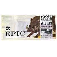 Epic Bar, Батончик из дикого кабана с невяленым беконом, 12 батончиков, по 1,5 унции (43 г) каждый