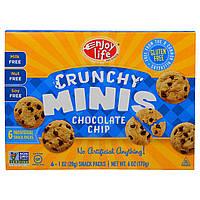 Enjoy Life Foods, Хрустящие печеньки, хрустящее печенье с кусочками шоколада, снэки в отдельных упаковках, 6 шт. по 1 унции (28 г)