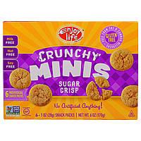 Enjoy Life Foods, Хрустящие печеньки, хрустящее печенье с сахаром, снэки в отдельных упаковках, 6 шт. по 1 унции (28 г)