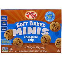 Enjoy Life Foods, Мягкие печеньки, мягкое шоколадное печенье, 6 упаковок со снэками, каждая по 1 унции (28 г)
