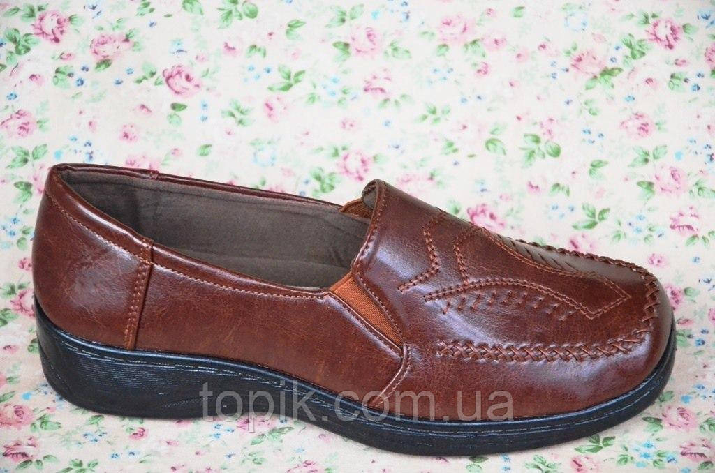 Туфли для старших коричневые женские популярные (Код: 43)