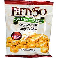 Fifty 50, Ириски с низким гликемическим индексом, без сахара, 78 г (2,75 oz)