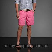 Розовые шорты Abercrombie&Fitch с ремнем