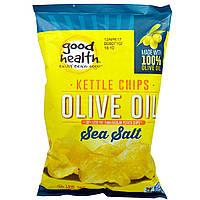 Good Health Natural Foods, Чипсы Kettle Style, оливковое масло, морская соль, 5 унций (141,7 г)