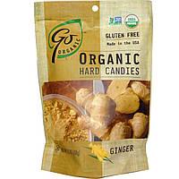 Go Organic, Натуральные леденцы с имбирем, 3.5 унций (100 г)