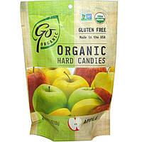 Go Organic, Органические леденцы, со вкусом яблока, 3.5 унций (100 г)