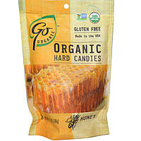 Go Organic, Органические леденцы, мед, 3,5 унций (100 г)