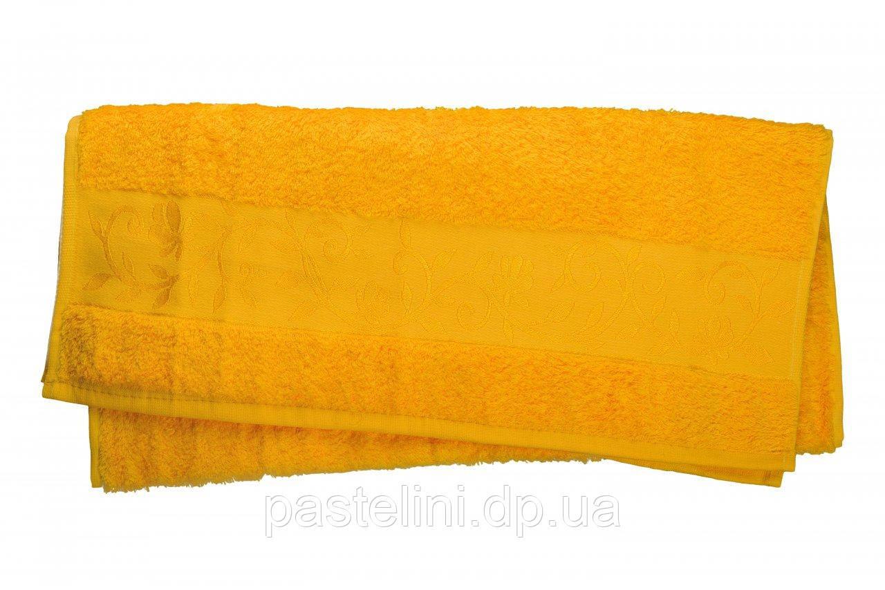 Полотенце махра-бамбук   50x90 bamboo жёлтое