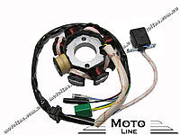 Генератор в сборе на скутер 4т GY6/QMB/QMI/KBF 125-150cc (8POL) GXmotor