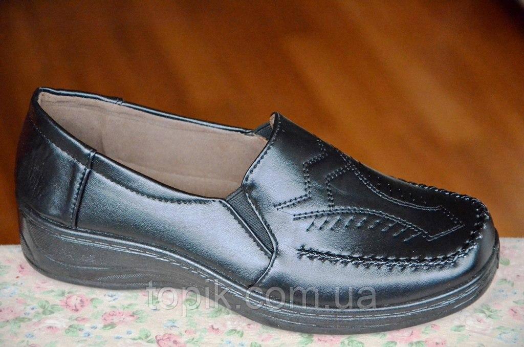 Туфли для старших черные женские популярные (Код: 44)