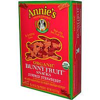 Annies Homegrown, Органические фруктовые закуски Bunny , со вкусом летней клубники, 4 унции (115 г)