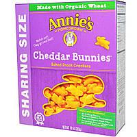 Annies Homegrown, Cheddar Bunnies, запеченные крекеры в виде кроликов с чеддером, 10 унций (283 г)
