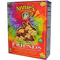 Annies Homegrown, Печенья в форме кроликов Graham Friends, с медом, шоколадом и шоколадной крошкой, 10 унций (283 г)