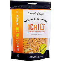Kameda Crisps, Пикантный рисовый снэк, сладкий перец чили, сладкий и острый, 5,0 унции (142 г)