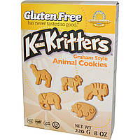 Kinnikinnick Foods, KinniKritters, печенье из муки грубого помола в форме животных, 8 унций (220 г)