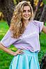 """Широкая футболка """"Счастье"""" фиолетовая kh.020.57, фото 3"""