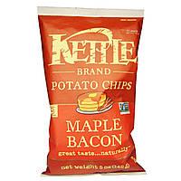 Kettle Foods, Картофельные чипсы со вкусом кленового сиропа и бекона,142 г