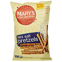 Marys Gone Crackers, Органические хрустящие палочки и крендели, Морская Соль, 7.5 унций (212 г)