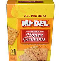 Mi-Del Cookies, Печенье из пшеничной муки с медом, 16 унций (454 г)