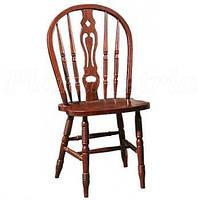 Деревянный стул CCKD C 221 -S, темная вишня. Стул резной с фигурной спинкой. Спинка и сиденье деревянные