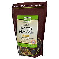 Now Foods, Настоящая пища, Энергетическая смесь из сырых орехов, без соли, 16 унций (454 г)