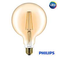 Лампа Philips LED G120 7W GOLD (диммируемая) LONG Premium