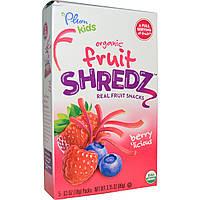 Plum Organics, Kids, фруктовые полоски, восхитительные ягоды, 5 упаковок, 0,63 унции (18 г) каждая