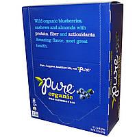 Pure Bar, Органическая дикая черника, 12 батончиков, 1,7 унций (48 г) каждый