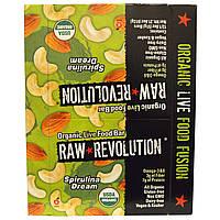 Raw Revolution, Органический батончик со спирулиной, 12 батончиков, 1,8 унций (51 г) каждый