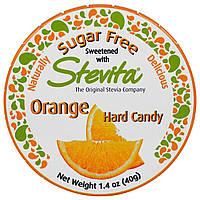 Stevita, Апельсиновые Леденцы, без Сахара, 1,4 унции (40 г)
