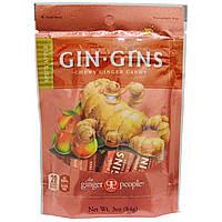 The Ginger People, GinGins, жевательное имбирное печенье, пряное яблоко, 3 унции (84 г)
