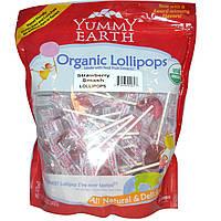 YumEarth, Органические леденцы на палочке, вкус клубники 12.3 унций (349 г)