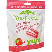 YumEarth, Мягкая пищевая клубничная лакрица без глютена + Вкусно, 5 унций (142 г)