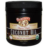 Barleans, Органическое кокосовое масло первого отжима, 16 жидких унций (473 мл)