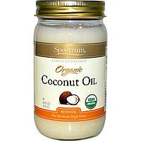 Spectrum, Органическое кокосовое масло, 14 унций (414 г)
