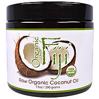 Organic Fiji, Органическое сырое кокосовое масло, 13 унции(390 г)