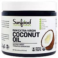 Sunfood, Кокосовое масло, сырое первого отжима, 16 жидких унций (473.2 мл)