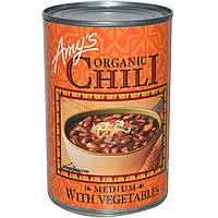 Amys, Органический чили, средней остроты с овощами, 14,7 унции (416 г)