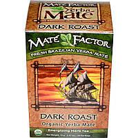Mate Factor, Органическое Йерба матэ, темной обжарки, 20 пакетиков, 2,47 унции (70 г)